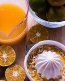 La naranja juicing Fotos de archivo libres de regalías