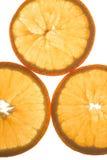 La naranja le gusta un sol imagen de archivo