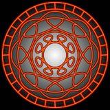 La naranja remolina en un círculo stock de ilustración