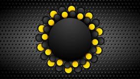La naranja y el negro ponen en contraste el fondo animado corporativo ilustración del vector