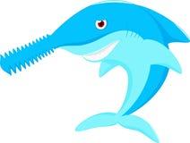 La nariz del tiburón asierra la historieta Fotografía de archivo