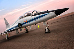 La NASA de la serre T-38 - avion-école d'avion à réaction d'astronaute Photos libres de droits