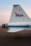 La NASA de la serre T-38 - avion-école d'avion à réaction d'astronaute Images stock