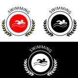 La natación - logotipo Fotografía de archivo libre de regalías