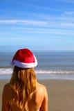 La natation allée de Santa Photographie stock libre de droits