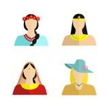 La nationalité de la femme Images libres de droits