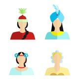La nationalité des femmes Photos libres de droits