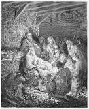 La natività - nascita di Jesus Fotografia Stock