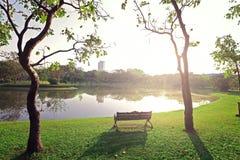La natura ed il tramonto del landscapse in parco Fotografie Stock