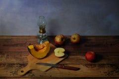 La natura morta dell'annata fruttifica scena Fotografia Stock