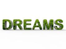 La natura sogna il concetto Fotografia Stock