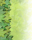 La natura verde lascia il bordo Immagini Stock Libere da Diritti