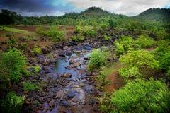 La naturaleza con el río Foto de archivo