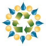 La naturaleza está de la vegetación del sol y del agua - logotipo Foto de archivo