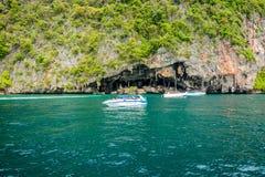 La naturaleza hermosa en Phi Phi Island, Tailandia fotografía de archivo