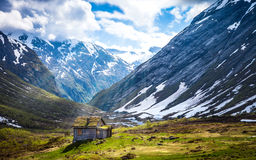 La naturaleza maravillosa de Noruega Foto de archivo