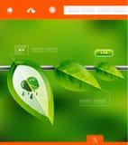 La naturaleza sale de la bandera infographic ilustración del vector