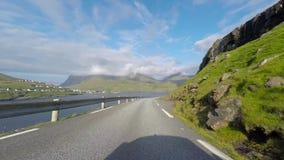 La nature des Iles Féroé dans l'Atlantique nord en Europe banque de vidéos