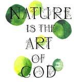 La nature est l'art d'un dieu Images stock