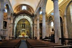 La navata centrale e l'altare della chiesa - chiesa della nostra signora Immagini Stock Libere da Diritti