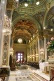 La navata la chiesa della nostra signora della Guardia a Genova La Liguria, Italia fotografie stock libere da diritti
