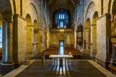 La navata della cattedrale di Lund Immagini Stock Libere da Diritti