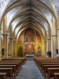 La navata della chiesa della st Gangolf - la seconda più vecchia costruzione di chiesa nella più vecchia città in Germania fotografia stock libera da diritti