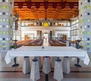 La navata della cripta veduta dall'altare Fotografia Stock Libera da Diritti