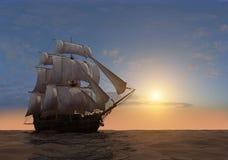 La nave illustrazione di stock
