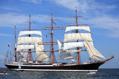 La nave alta corre 2009 - STS Sedov Immagine Stock