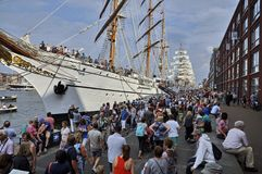 La nave alta de Sagres en el Veemkade Imágenes de archivo libres de regalías