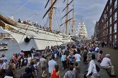 La nave alta di Sagres sul Veemkade Immagini Stock Libere da Diritti