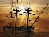 La nave antica Immagini Stock Libere da Diritti