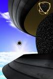 La nave appoggio in superficie del UFO Fotografia Stock Libera da Diritti