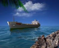 La nave da carico royalty illustrazione gratis