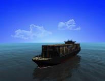 La nave da carico illustrazione vettoriale
