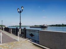 La nave da carico sul fiume Don Fotografie Stock