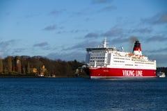 La nave de la línea compañía - Mariella de Vikingo Fotos de archivo