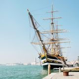 La nave del ` de Amerigo Vespucci del ` de la marina de guerra italiana Imagen de archivo