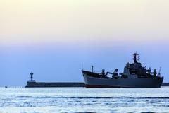 La nave di guerra Fotografie Stock Libere da Diritti