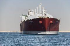 La nave di LNG consegna il gas naturale Fotografia Stock