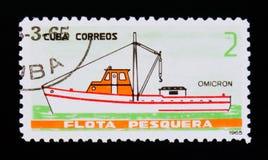 La nave di Omicron, da pesca spedisce il serie, cubano circa 1965 Immagini Stock