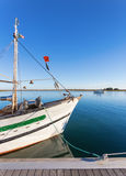 La nave di pesca dell'albero al bacino portugal Fotografie Stock