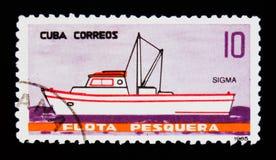 La nave di sigma, da pesca spedisce il serie, circa 1965 Fotografia Stock