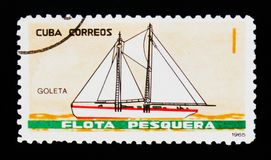 La nave di Sondero, da pesca spedisce il serie, circa 1965 Fotografie Stock