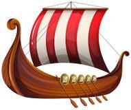 La nave di un vichingo illustrazione di stock