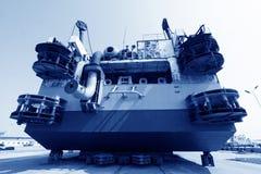 La nave era nell'ambito della riparazione nel bacino Immagine Stock Libera da Diritti