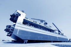 La nave era nell'ambito della riparazione nel bacino Immagini Stock Libere da Diritti