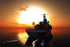 La nave militar stock de ilustración