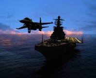 La nave militare Fotografia Stock Libera da Diritti